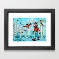Tin Timber & The Blue Ma… Framed Art Print
