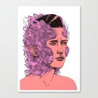 transformation portrait part 1 Canvas Print