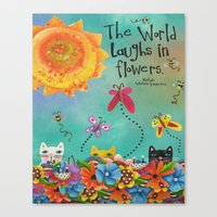 The World Laughs In Flowers Canvas Print