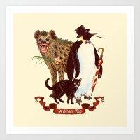 At The Arkham Zoo Art Print