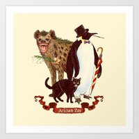 At the Arkham Zoo Art Print