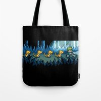 Pixel Jurassic World Tote Bag