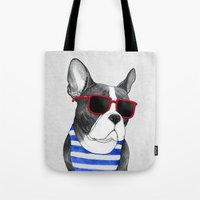 Frenchie Summer Style Tote Bag