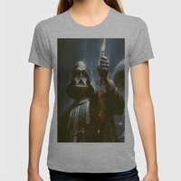 Darth Vader Vintage Womens Fitted Tee Athletic Grey SMALL
