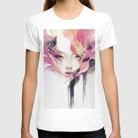 portrait T-shirts featuring Bauhinia by Anna Dittmann