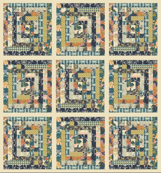 Art Deco Patchwork Art Print