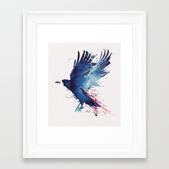 Bloody Crow Framed Art Print