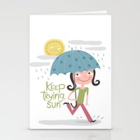 Keep Trying Sun! Stationery Cards