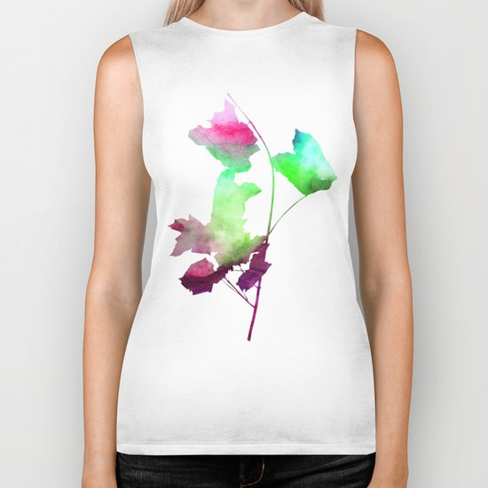 Maple_Watercolor2 by Jacqueline and Garima Biker Tank