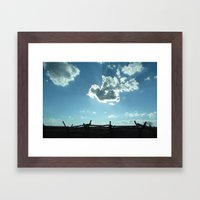 Memories of Battle Framed Art Print