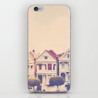 Darling do come see us! San Francisco Painted Ladies photograph iPhone & iPod Skin