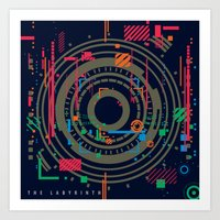 chaos vs order - the labyrinth within v2 Art Print