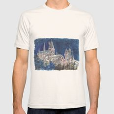 Hogwarts Painting  Mens Fitted Tee Natural SMALL