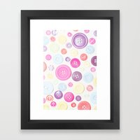Button Love Framed Art Print
