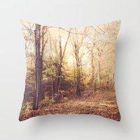 New England Autumn Throw Pillow