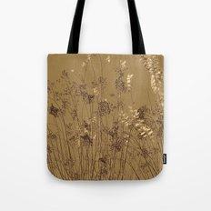 Thin Branches Sepia Tote Bag