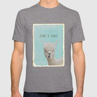Lama Mens Fitted Tee Tri-Grey SMALL