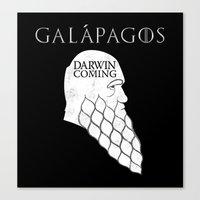 Darwin Is Coming Canvas Print