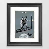WeArePlural Framed Art Print