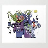 Hippopotamouth Art Print
