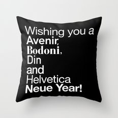 Happy Helvetica Neue Year 2014 Throw Pillow