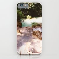 iPhone & iPod Case featuring Kanchanburi TH - Erawon Waterfalls  by Dolphin and Cow