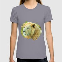 LION AROUND Womens Fitted Tee Slate SMALL