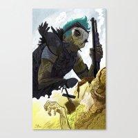 Apocalyptic Biker  Canvas Print