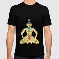 YOGA Black SMALL Mens Fitted Tee
