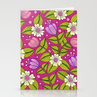 Tulips And Dogwood Flowe… Stationery Cards