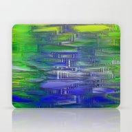 Flashy Surface Green Blu… Laptop & iPad Skin