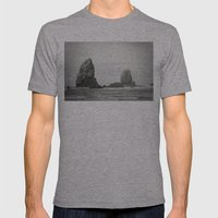 Sea Stacks (Cannon Beach… Mens Fitted Tee Athletic Grey SMALL