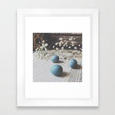 Robin eggs Framed Art Print