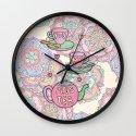 You, me, plus tea Wall Clock