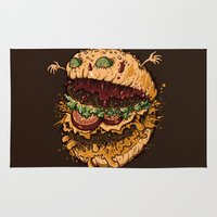 Monster Burger Rug