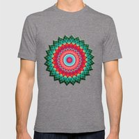 Plaid Flower Mens Fitted Tee Tri-Grey SMALL