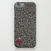 Blue W/Red Accent Dot Co… iPhone 6 Slim Case
