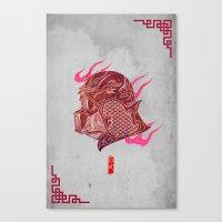 Red Darth Canvas Print
