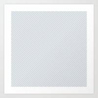 U13: Grey Droplet Art Print