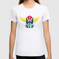 GOLDRAKE - Ufo Robot Womens Fitted Tee Ash Grey SMALL