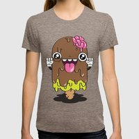 Brain Freeze Womens Fitted Tee Tri-Coffee SMALL