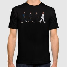 Abbey road Mens Fitted Tee Black SMALL