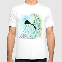 Blue Fairy Mens Fitted Tee White SMALL