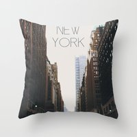 N E W . Y O R K Throw Pillow