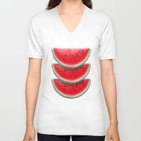 Slices of watermelon Unisex V-Neck