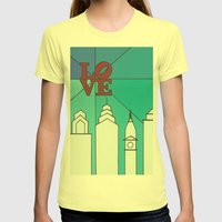 LOVE Shine Womens Fitted Tee Lemon SMALL
