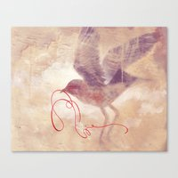 The red string Canvas Print