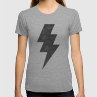 Lightning Strike Womens Fitted Tee Tri-Grey LARGE