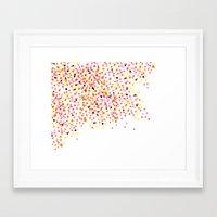 Watercolor Confetti! Framed Art Print
