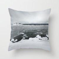 Ice On Lake Superior Throw Pillow